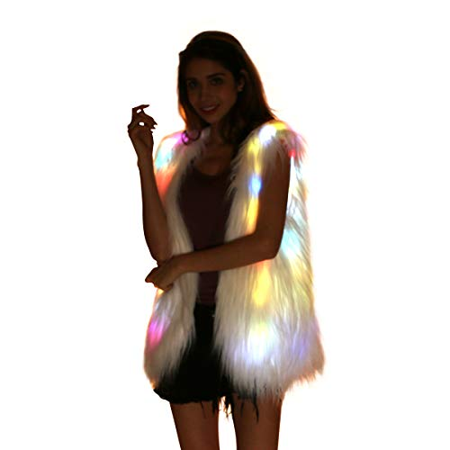 LED Light-Up Faux Fur Vest