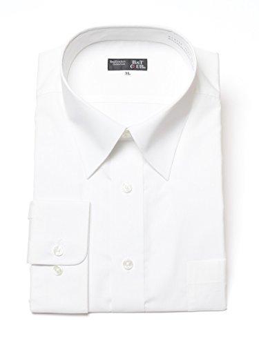 (サカゼン) B&T CLUB 大きいサイズ ワイシャツ 長袖 メンズ 形態安定 レギュラーカラー ホワイト / 6L