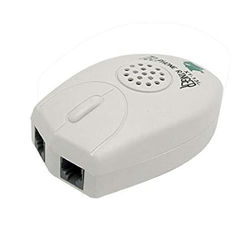 LNIEGE Timbre del teléfono RJ11 Amplificador con Sonido Fuerte Extra Brillante - Blanco