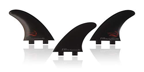 E8 FIN SYSTEM QUILLA Surf FCS Compatible Tri-Set A1 Equivalente AM1 Composite Fibra DE Carbono. Sistema Fusion. Talla L