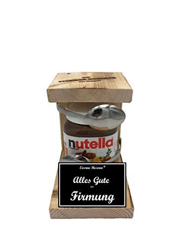 Alles Gute zur Firmung Die Eiserne Reserve ® Löffel mit Nutella 450g Glas - lustige Geschenk - Die Nutella - Geschenkidee