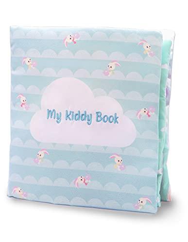 My Kiddy Book – Libro de despierto de tela para niños de 0 a 2 años – 6 páginas de actividades que estimulan a tu bebé – Diseño de animales del mar