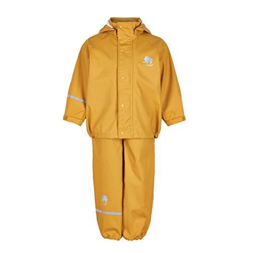 CeLaVi Mädchen CeLaVi zweiteiliger Regenanzug in vielen Farben Regenjacke,,per pack Gelb (Mineral Yellow 372),(Herstellergröße:120)