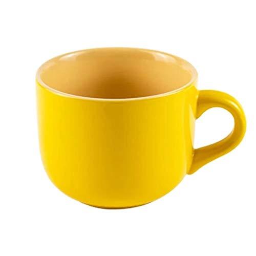 Hong Yi Fei-Shop Tazas de Espresso Big Belly Taza de Leche de Gran Capacidad de harina de Avena Desayuno Copa del hogar Taza de Agua de la Taza de café Taza de cerámica Taza de Porcelana