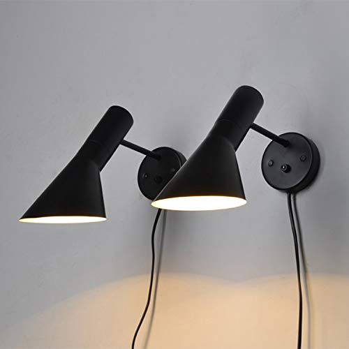 RAQ Moderne wandlamp wandmontage nachtkastje leeslamp creatieve wandlamp Home Lighting zwart