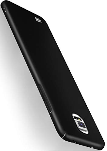 MoEx® Funda Trasera [Ultrafina] Compatible con Samsung Galaxy Note 4   Metálico Mate Noir