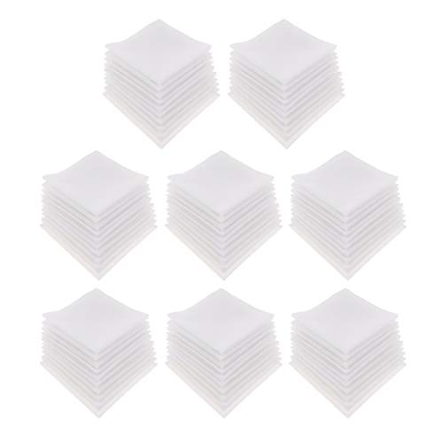 Generic 80pcs Serviettes de Table Linge de Table en Coton Serviettes de Table Polyester Hôtel de Mariage Blanc