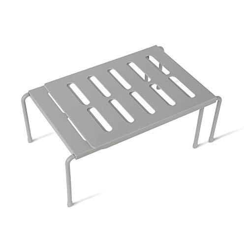 ZUZPAO Erweiterbares Küchenschrank-Regal, erweiterbare Küchentheke & Schrank-Regal, Organizer, Mini-Küchenregale für Schrank, Teller, Geschirr, Theke & Speisekammer Organisation Küche (grau)