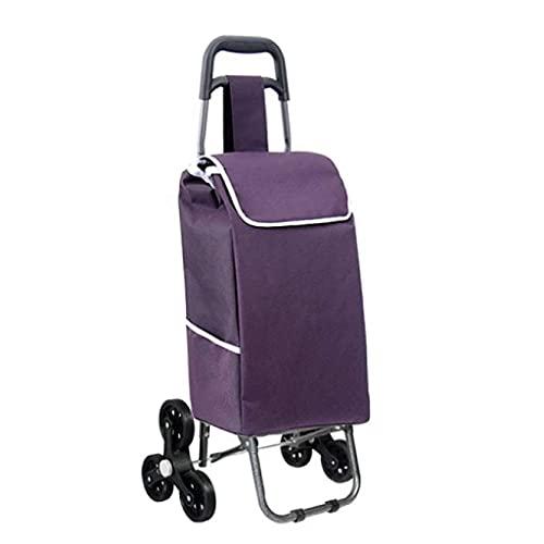 WYZXR Faltbarer Treppensteigender Einkaufswagen Tragbarer Reiseanhänger Haushaltsgepäckwagen Einkaufswagen (Größe: 25 * 19 * 93Cm) Einkaufswagen (Farbe : E)