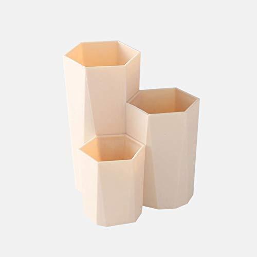 2 pièces de Stockage Box3 Treillis Maquillage Brosse cosmétiques boîte de Rangement Table Organisateur Maquillage Nail Polish Support de cosmétique Make Up Outils Pen Ho (Color : Yellow)