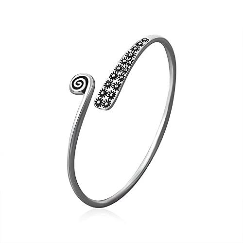 Elnker 925 Sterling Silver Charm Bracelet &Bangle For Women Men