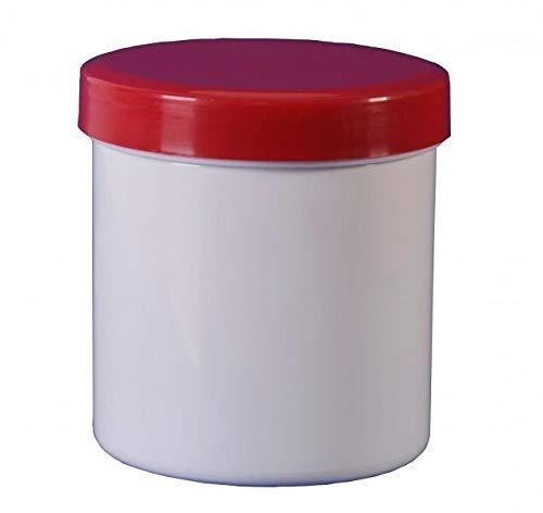 10 Salbendosen Cremdose 200 g 250 ml Deckel rot Salbendöschen Dose Kunststoffdose Schraubdeckeldosen Schraubdeckel Fa.ars