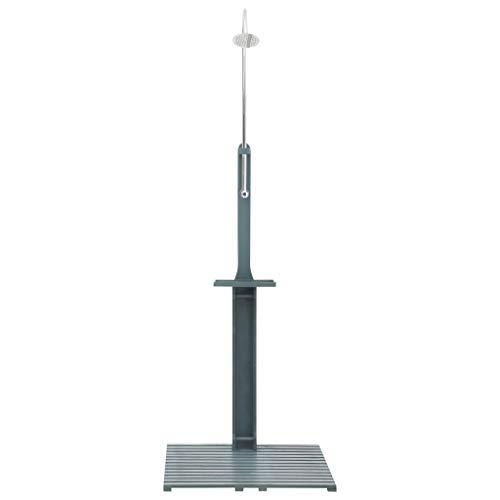 vidaXL Doccia da Giardino con Ugello Girevole Pressione Regolabile Universale Bagno Piscina Soffione Pioggia in Legno di Abete Antracite