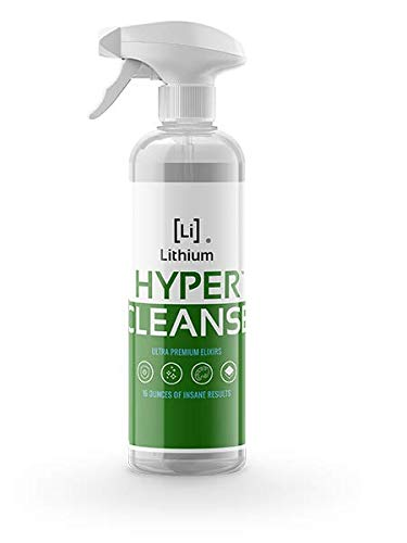 Lithium Hyper Cleanse- All Purpose Cleaner- Newest Science in Cleaning Leather, Plastic, Carpet, Vinyl, Removes The Toughest Stains, Protects, Penetrates Cracks and Grooves. (16oz)