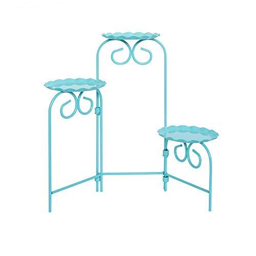 WEIFAN-Support tray Tableau de Dessert de Mariage de présentoir de présentoir de Petit gâteau, présentoir de Desserts Pliant Bleu
