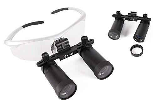 Mike Dental 5.0X-R Verstelbaar Zilver BP Frame Vergroting Chirurgische Verrekijker Loupes met De Doek Tas