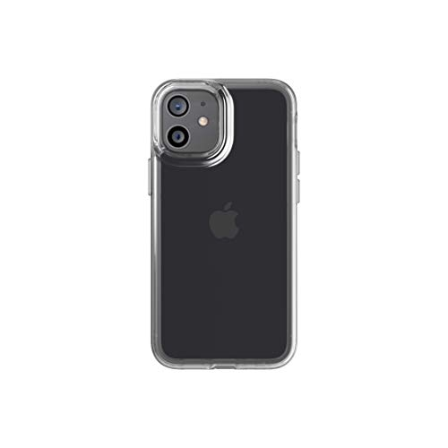 tech21 EvoClear for Apple iPhone 12 Mini 5G - Germ Fighting Antimicrobial Phone Case with 10 ft. Drop Protection, Clear