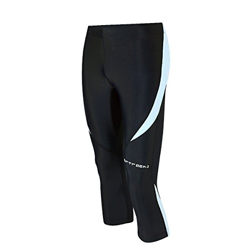 Airtracks FUNKTIONS Laufhose 3/4 LANG PRO/Running Hose – Tight/Kompression - schwarz-grau L