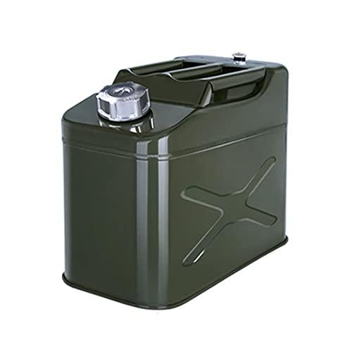 LIYANLCX Lata de Gasolina del Almacenamiento del Soporte del bidón del Combustible del Metal para el envase de los líquidos del Aceite Diesel de la Gasolina