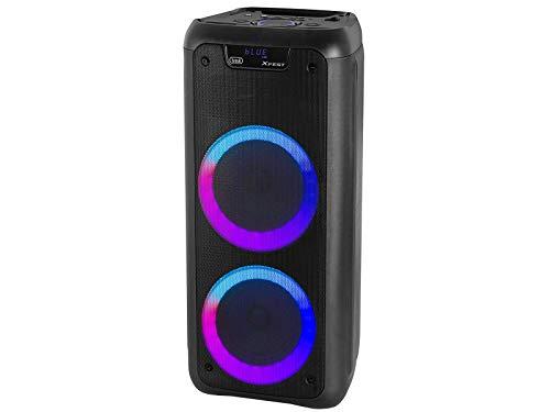 Trevi XFEST XF 600 KB Altoparlante Speaker Amplificato Portatile con Mp3, USB, MicroSD, AUX-IN, Bluetooth, Due Ingressi Microfonici, Moving Discolight Multicolor, Batteria Integrata