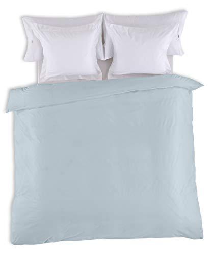 ESTELA - Funda nórdica Combi Color Azul Celeste - Cama de 105 cm. - 50% Algodón / 50% Poliéster - 144 Hilos