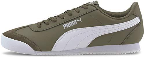 PUMA Turino Herren-Turnschuhe zum Schnüren, (Burnt Olive/Puma Weiß/Puma Silber), 39 EU