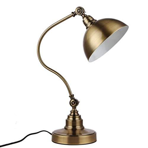 Preisvergleich Produktbild YHFX Alle Kupfer Schreibtischlampe,  Retro Nostalgie,  Büro-Schreibtisch-Studie Lese Schlafzimmer Nachtaugenschutz Eisen Tischlampe 002