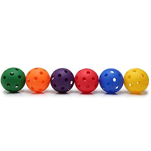 Nrpfell Hohl Wiffle Ball Kunststoff Baseball üBung Kunststoff Baseball Kunststoff Softball Anzug Ploy Baseball Multicolor Kunststoff Baseball Kunststoff Gymnastik Ball