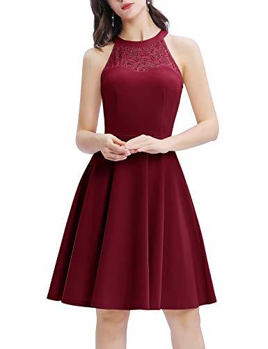 Vestido con cuello Halter disponible en varios colores