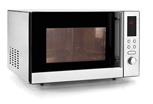 LACOR 69323 Mikrowelle Ofen 23 L mit Grille und Dreh, silber, 21 l