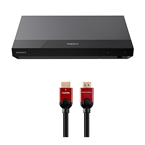 Sony UBP-X700 4K Ultra HD Blu-ray Player with Dolby Vision with 6 ft. High Speed HDMI Cable