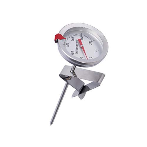 BESTONZON Termometro per alimenti in acciaio inossidabile, termometro per frittura con sonda di lunghezza 300mm, intervallo di misurazione della temperatura da 0 ℃ ~ 300 ℃