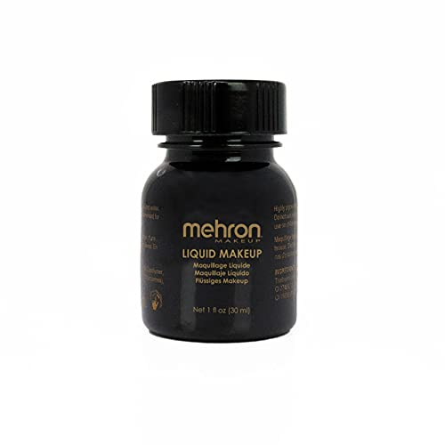 Mehron Makeup Liquid Face and Body Paint (1 oz) (BLACK)