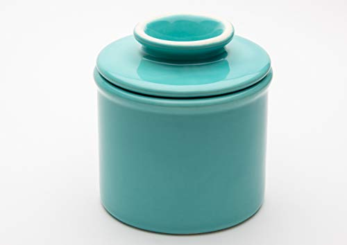 American Mug Pottery Butter Keeper/Butter Dish, Made in USA (Turquoise)
