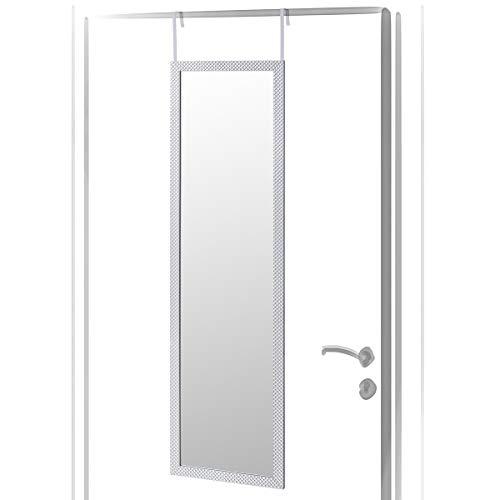 Lola Home Espejo de Puerta Jaspeado de plástico de 35 x 125 cm (Plateado)