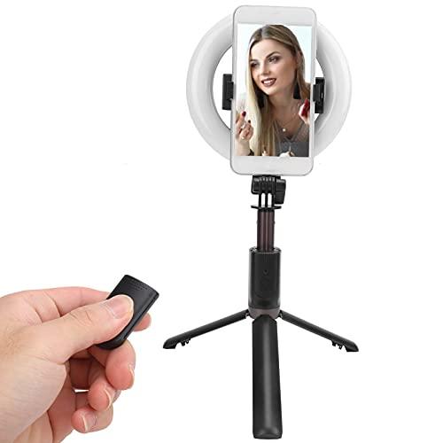 Jopwkuin Luz de Relleno, luz de Relleno Disparo Horizontal y Vertical Luz de Relleno Conveniente para Llevar la luz de Relleno para Maquillaje de Video, fotografía de Selfies