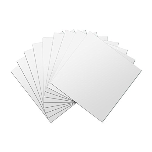 GLOGLOW 16pcs Mirror Tile Stickers Self-adhesive DIY Square Mirror Wall Stickers Plastic Non-Glass 3D Mirror Tiles Decals Sheets for Home Decor 6 Inch x 6 Inch