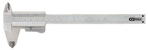 KS Tools 300.0510 Calibre à coulisse becs doubles inox Vernier monobloc Jauge de profondeur