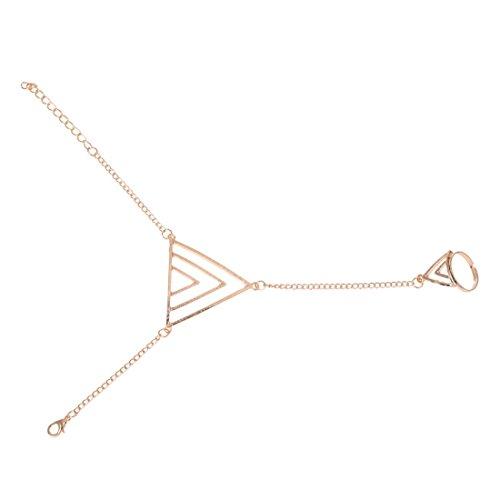 SODIAL(R) Armband Armreif Finger Sklaven Ring mehrschichtiger Dreieck Design herrliches Geschenk