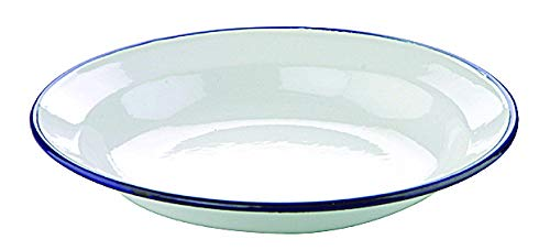 Ibili 912928 Assiette en acier émaillé vitrifié Blanche 28 cm