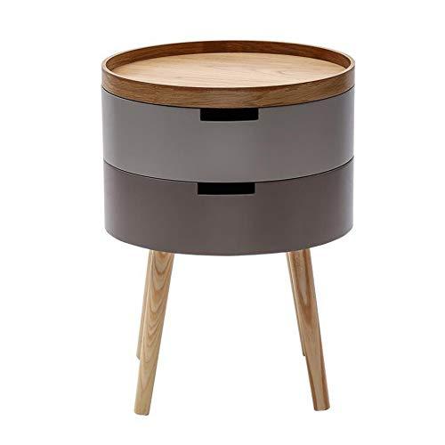 VBARV Beistelltisch, Wohnzimmer Sofa Beistelltisch aus Holz, auf Nachttisch im Schlafzimmer auftragen, Arbeitsbalkon Mini-Aufbewahrungsecke, Garten-Couchtisch