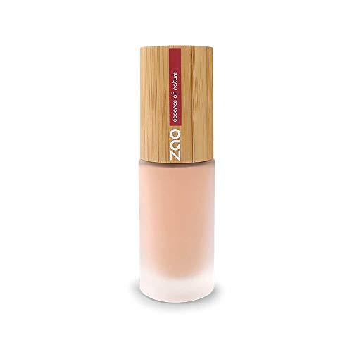 ZAO Silk Foundation 714 natur-beige im Pumpspender, Flüssig-Makeup mit Bambus
