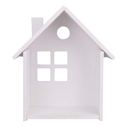 MagiDeal Estante Organizador de Estante de Exhibición de Almacenamiento de Estantes de Pared Flotantes de Diseño de Casa Simple con Ganchos Adhesivos