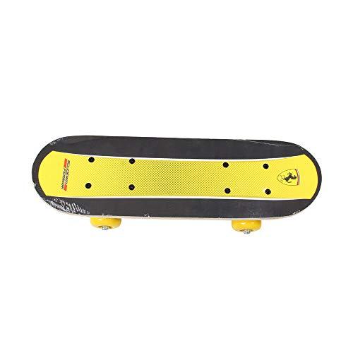 ADGN Kinder 17 Zoll Mini Skateboard Doppel Tritt komplette Plattform-Brett Skate Cruiser Holz,Gelb
