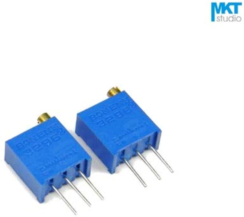 100Pcs 3296W 100 1K 10K 100K 1M Ohm BType Linear Precision Cermet redary Trimmer Potentiometer Knob,Variable Resistor  (color  1K Ohm)