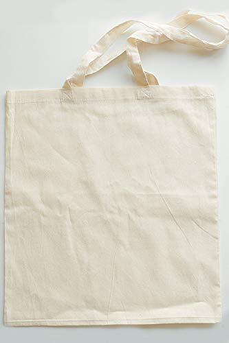 tarja 73   Tote Bag de algodón ecológico en Color Natural con asa Larga e impresión Personalizada, Ideal para la Compra. Ecofriendly. Regalo Personalizado y Original.