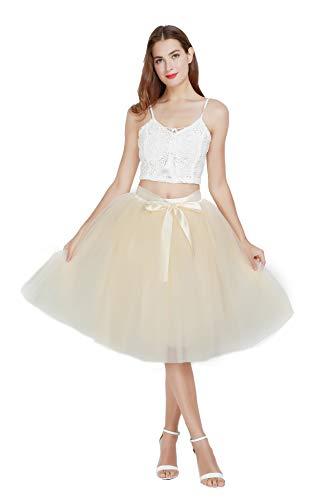 Falda de tul para mujer, línea A, vestido de baile, retro, falda...