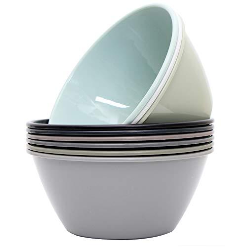 Youngever 50 ounce Plastic Bowls, Large Cereal Bowls, Large Soup Bowls, Microwave Safe, Dishwasher...