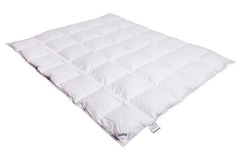 Notte Amore – Edredón de verano cómodo, apto para alérgicos, mullido, suave y cálido, Blanco, 200 x 200 cm