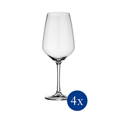 vivo by Villeroy & Boch Group - Voice Basic Rotweinglas-Set, 4-tlg., 497 ml, Kristallglas, klar, spülmaschinenfest
